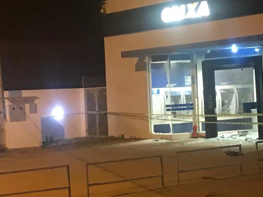 Noite de terror na cidade de São Miguel, bandidos estouram Caixa Econômica